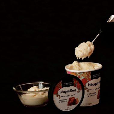 Glace haagen dazs praline cream
