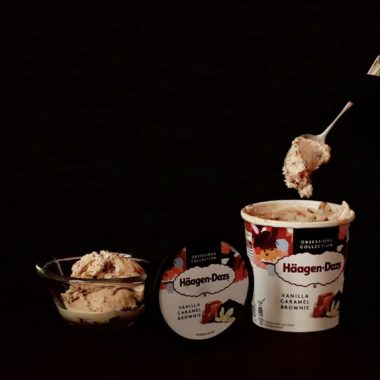 Glace haagen dazs vanille caramel brownies